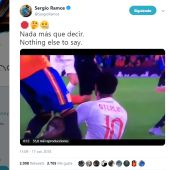 El tuit de Sergio Ramos