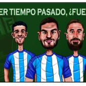Los exfranjiverdes Héctor Hernández, David Lombán, Miguel Ángel Garrido 'Cifu' y Adrián González juegan en el Málaga CF.