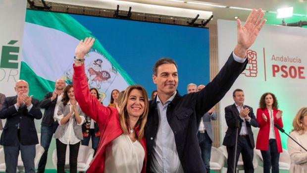 Pedro Sánchez y Susana Díaz