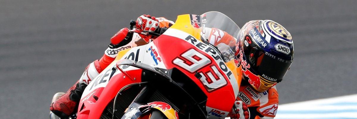 Marc Márquez rueda en el GP de Japón