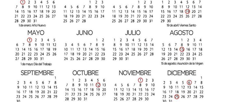 Calendario Laboral Valladolid.El Calendario Laboral De 2019 Tendra 12 Dias Festivos 8 Comunes En
