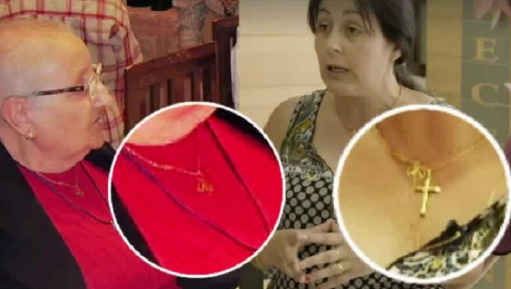 Imagen de la joya robada por la que unos familiares han denunciado a la directora de la residencia