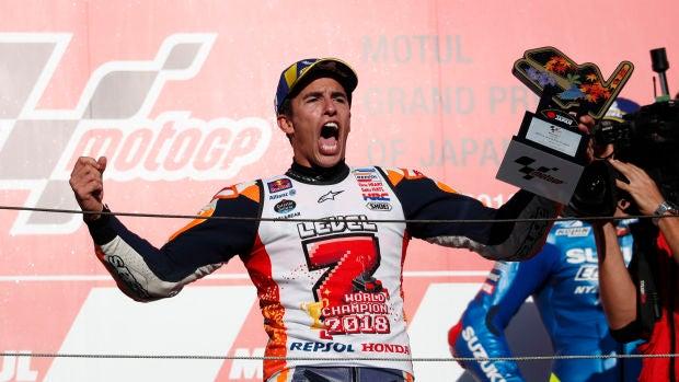 Marc Márquez, exultante tras ganar su séptimo mundial