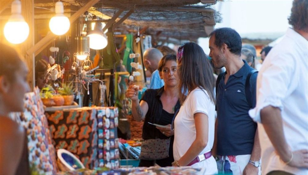 Mercadillo en Formentera