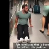 Justin Levene, el atleta parapléjico que se tuvo que arrastrar por un aeropuerto de Londres