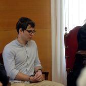 Patrick Nogueira durante el juicio