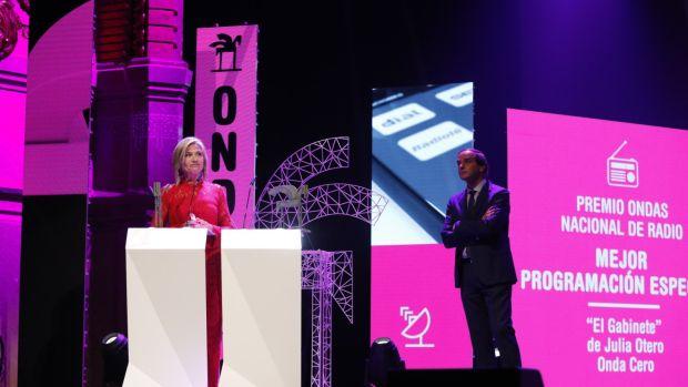 Julia Otero recibe el Premio Ondas 2018
