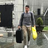 Pablo Fornals llegando a la concentración de la Selección