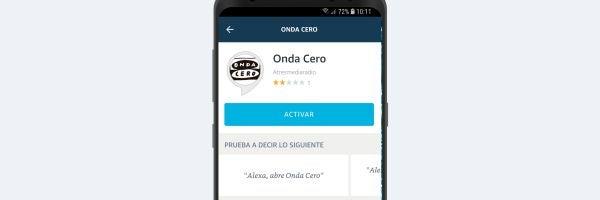 Entrando en la APP de Alexa puedes activar la skill de Onda Cero