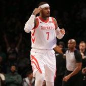 Carmelo Anthony, durante un partido con los Rockets