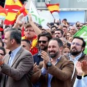 Santiago Abascal en un acto electoral de Vox en Málaga