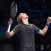 El tenista alemán Zverev celebra su triunfo