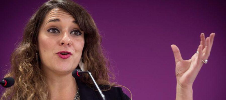 La coportavoz de la Ejecutiva de Podemos, Noelia Vera