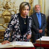 La abogada general del Estado, Consuelo Castro, durante el acto de toma de posesión de su cargo