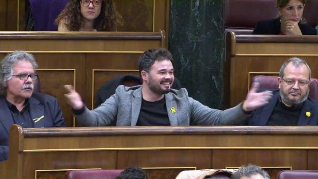 Gabriel Rufián, expulsado del pleno del Congreso tras este rifirrafe con Josep Borrell