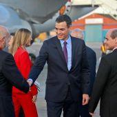 Pedro Sánchez, a su llegada a Cuba.