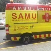Una ambulancia del SAMU en Elche.