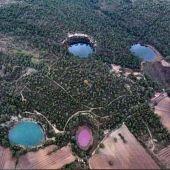 Laguna rosa en Cuenca