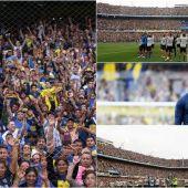 Los hinchas de Boca Juniors, en La Bombonera