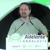 Pablo Iglesias acusa a Susana Díaz de dejar a Andalucía de lado