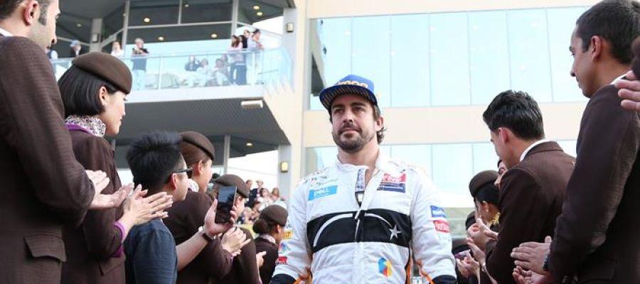 Fernando Alonso en el GP de Abu Dabi