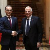 El ministro de Asuntos Exteriores Josep Borrell, durante su encuentro con su homólogo alemán, Heiko Maas