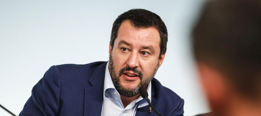 El vicepresidente del Gobierno y líder de la Liga, Matteo Salvini
