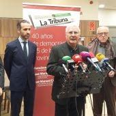 Caballero, Diego Murillo (director de La Tribuna), Barreda y Cañizares Lera