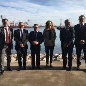 Reunión de la Presidenta de Puertos del Estado con responsables de los puertos de Gijón y Avilés, y el Consejero de Infraestructuras