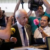 El presidente de River Plate, Rodolfo D'Onofrio, en la sede de la CONMEBOL