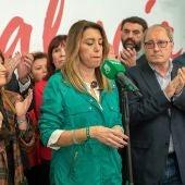 Susana Díaz hace balance de su resultado en Andalucía