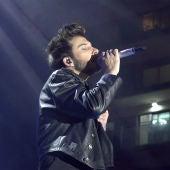 Blas Cantó durante el concierto #HolaNadal de Europa FM en Badalona