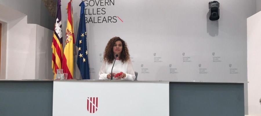 Pilar Costa, tras una reunión del Consell de Govern.