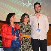 De izquierda a derecha: Beatriz Ros, Marisa Moreno y Alejandro García