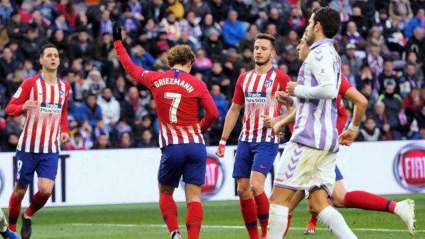 Griezmann celebra un gol con el Atlético