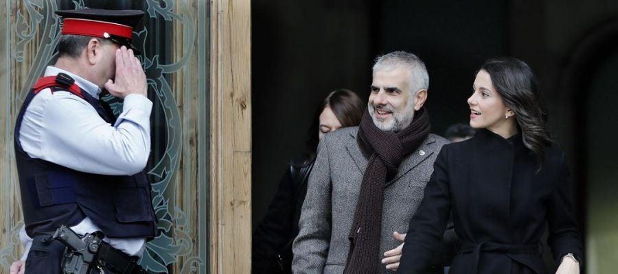 Carlos Carrizosa e Inés Arrimadas