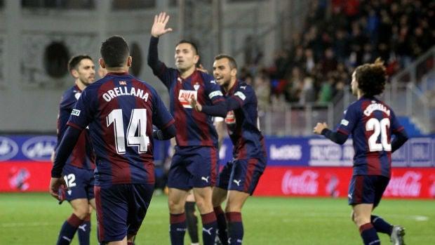El Eibar celebra un gol