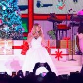 Mariah Carey durante un concierto en Madrid