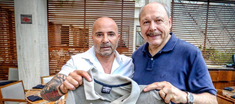 Jorge Sampaoli, director deportivo del Santos.