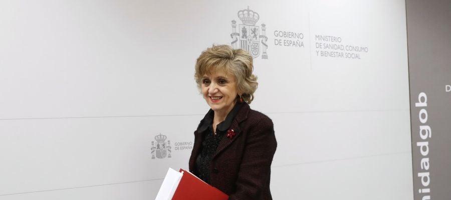 La ministra de Sanidad, Consumo y Bienestar Social María Luisa Carcedo