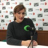 Marga Romero en una entrevista anterior en los estudios de Onda Cero Ciudad Real