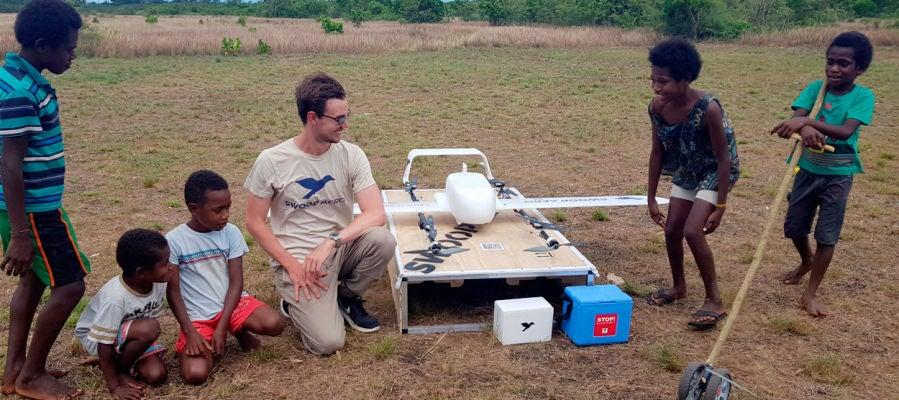 Vanuatu, el primer país que usa drones comerciales para distribuir vacunas