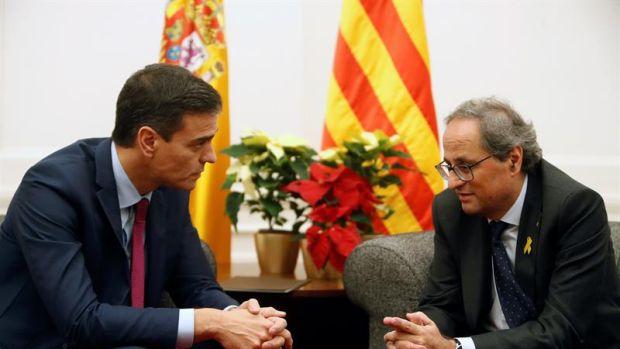 Pedro Sánchez y Quim Torra se reúnen a un día del Consejo de Ministros
