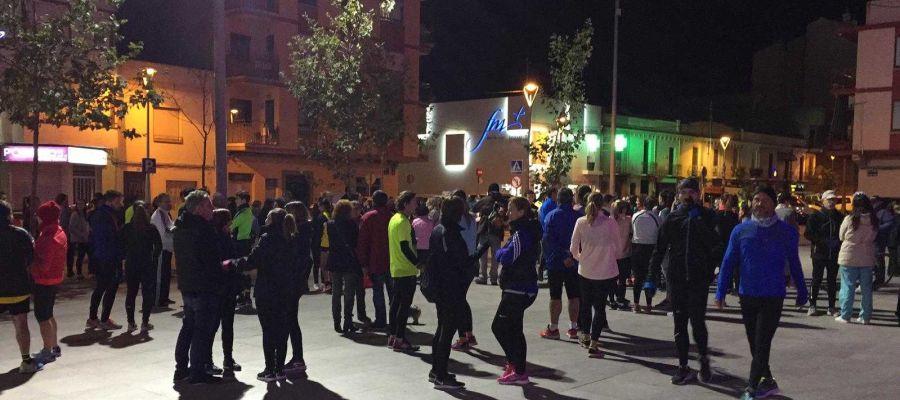 Els ciutadans ´s´han sumat a l´acte de protesta convocat pel club Triatló Vila-real amb eixida des de l´Estadi de la Ceràmica.