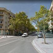 Carretera de Valldemossa, en Palma