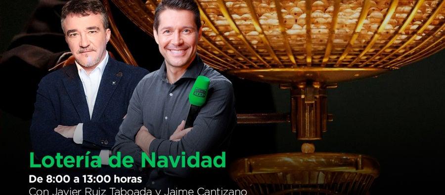 Lotería de Navidad con Javier Ruiz Taboada y Jaime Cantizano