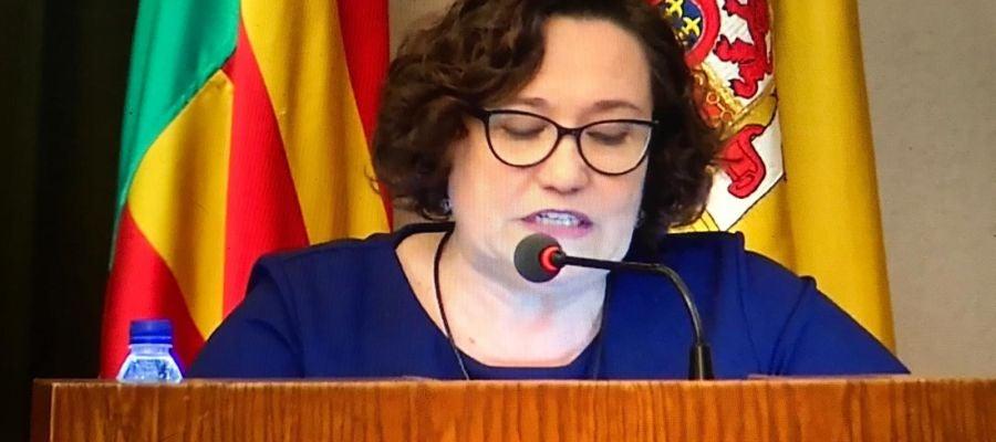 Ali Brancal, vicealcaldesa de Castellón, durante el pleno de ayer.