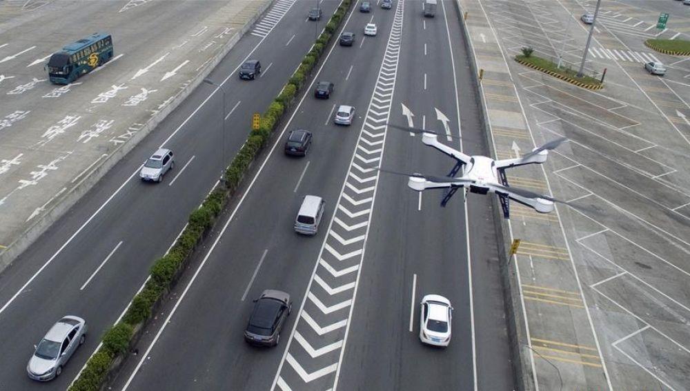 Drones controlando el tráfico