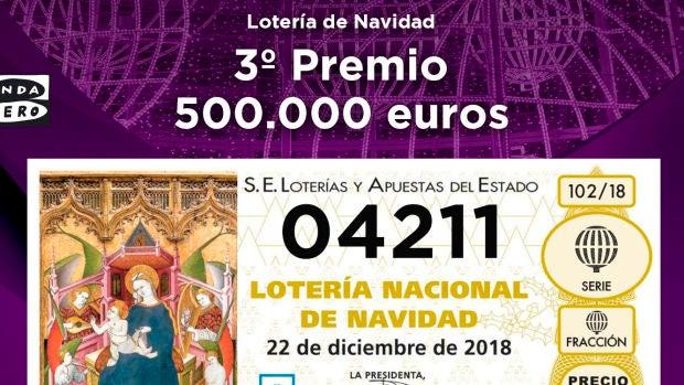 Tercer premio de la Lotería de Navidad