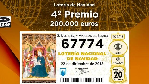 El 67774, segundo cuarto premio de la Lotería de Navidad